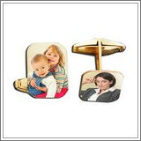 Photo Engraved Rectangle Cuff Links
