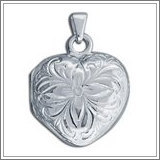 "Sterling Silver ""Photo"" Cremation Locket"