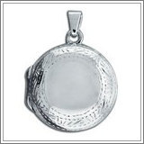 """Sterling Silver """"Photo"""" Cremation  Locket"""