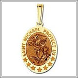 "Saint Michael OVAL Medal  ""EXCLUSIVE"""