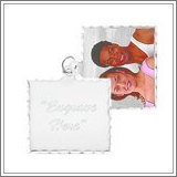 Sterling Silver Square Swivel Photo Pendant Picture Charms
