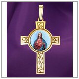 "Sacred Heart of Jesus Cross Medal ""Color EXCLUSIVE"""