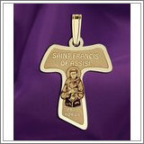 "Saint Francis of Assisi  - Franciscan Cross Medal  ""EXCLUSIVE"""