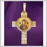 "Our Lady of Perpetual Help Cross Medal  ""Color EXCLUSIVE"""