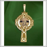"Saint Patrick CELTIC CROSS Medal  ""EXCLUSIVE"""